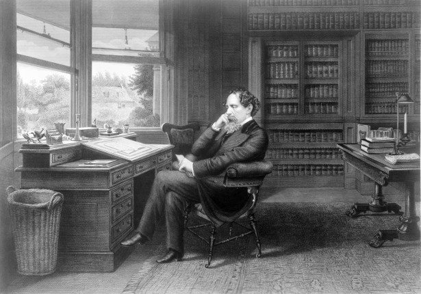 Charles Dickens Sitting at His Writing Desk. Via Jennifer Margulis, Ph.D.