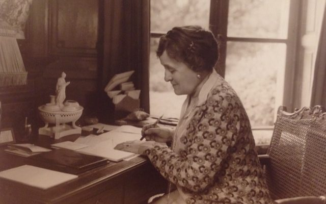 Edith Wharton at her desk in France. Via Jennifer Margulis, Ph.D.