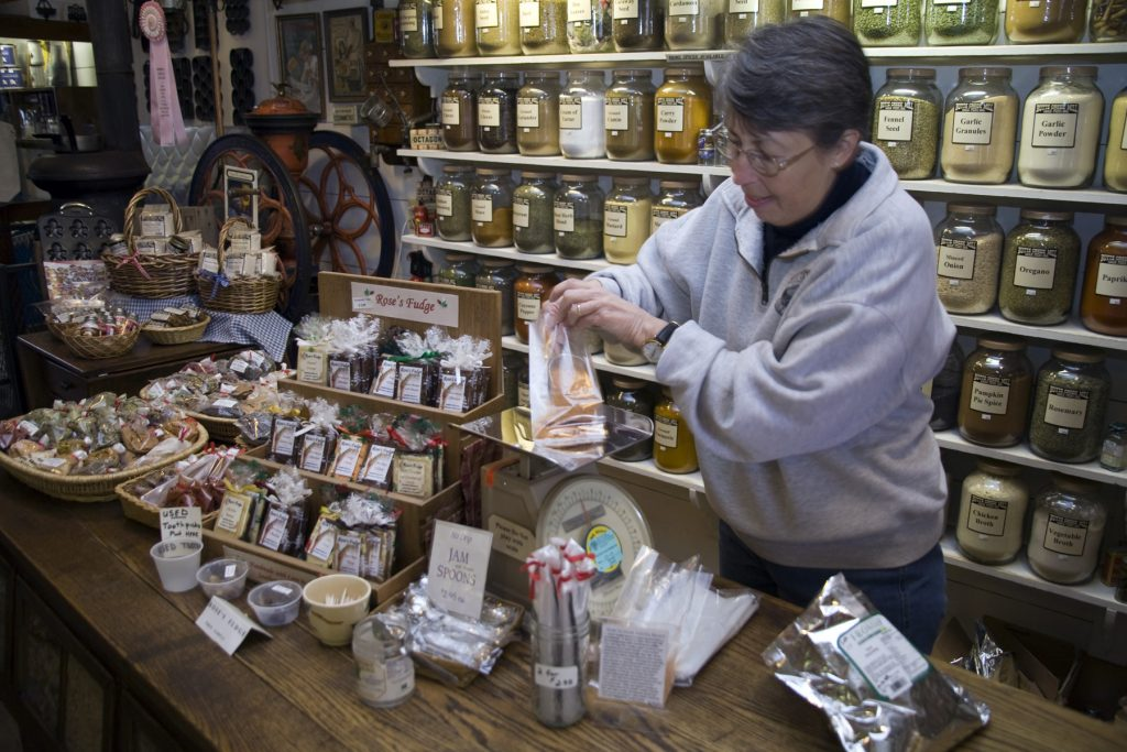 At the store inside the Butte Creek Mill. Photo credit: Sean Bagshaw.