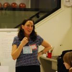 Jennifer Margulis teaching a workshop at a Parent-Daughter fair. Photo courtesy of Sarah Westover