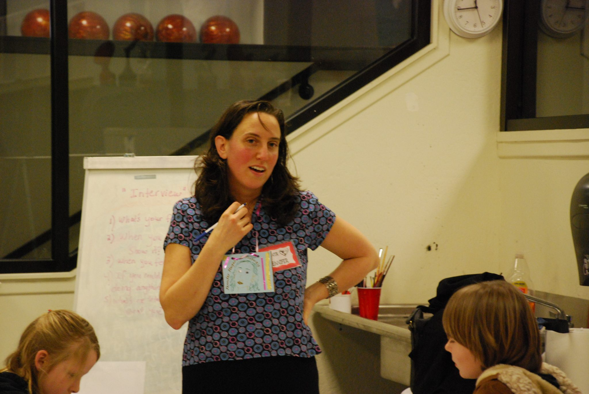What is an elevator speech? Photo of Jennifer Margulis teaching a workshop at a Parent-Daughter fair. Photo courtesy of Sarah Westover.