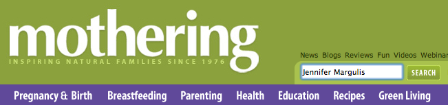 Mothering magazine banner logo from 2009. | Jennifer Margulis