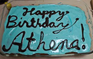 We had so many people at her party that we had to make two cakes. Happy birthday, Athena! Via jennifermargulis.net