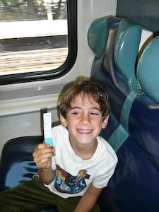On a train to Scarsdale after BlogHer 2010.
