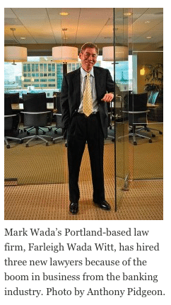 Mark Wada at his office in downtown Portland. Bankruptcy law is a fool-proof profession during economic downturns, as Jennifer Margulis reports
