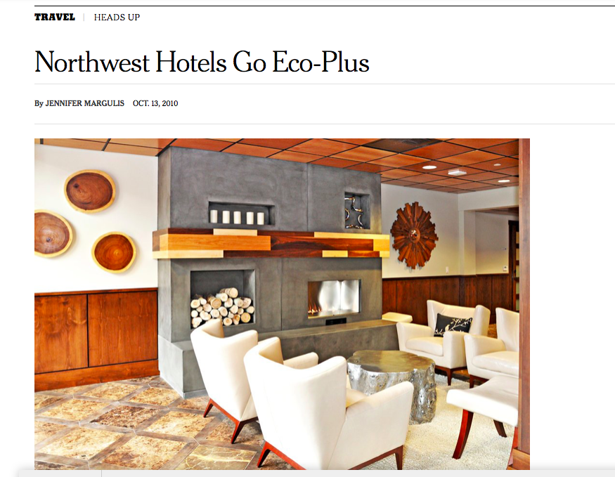 Hotels in the Pacific Northwest combine luxury with eco-friendly strategies.
