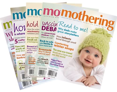 Mothering magazine covers