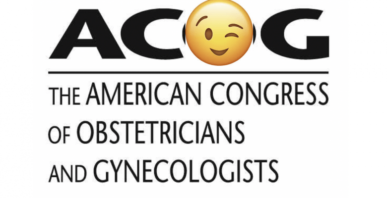 ACOG logo with a winking eye in place of the O.