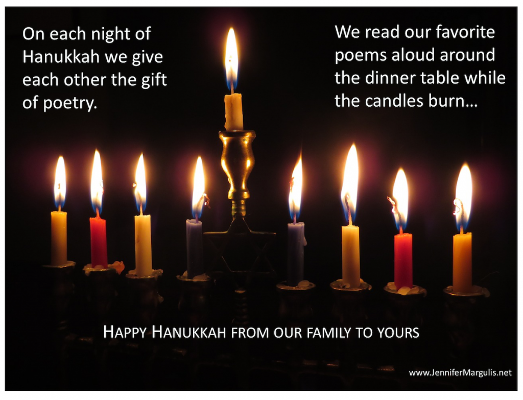 On each night of Hanukkah we enjoy exchanging poems instead of giving gifts | Jennifer Margulis, Ph.D.