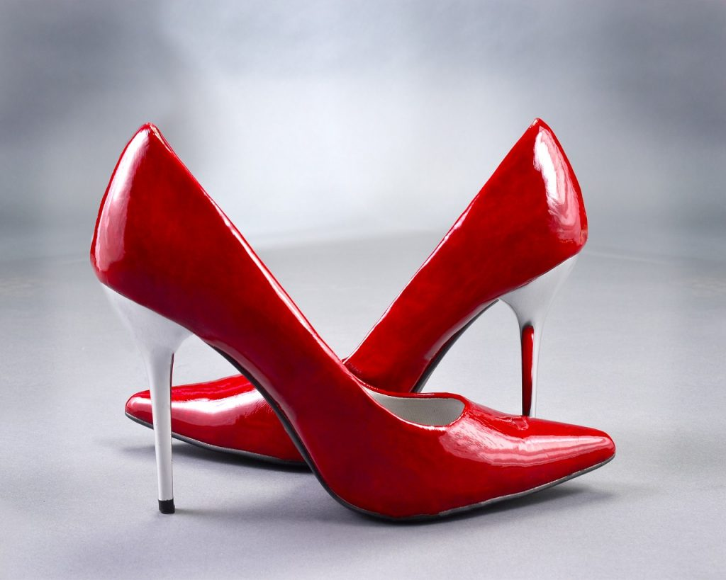 After a website remodel, www.JenniferMargulis.net is back on-line and looking spiffy. Photograph of bright red high heeled women's shoes.