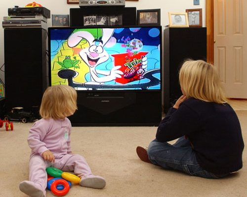Advertisers use television to market sugary junk food to small children. We need to say no to screen time and commercialism in the classroom.