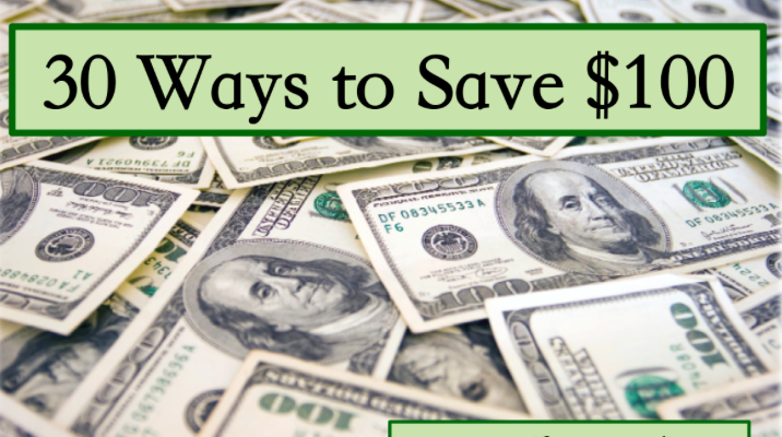 Need advice about how not to spend so much? Here are 30 ways to save $100.