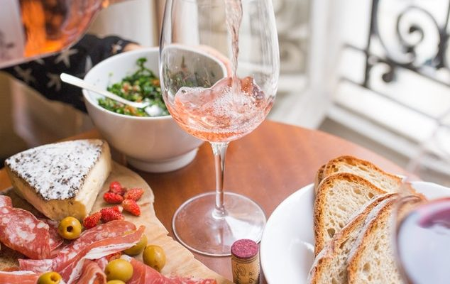 Rosé poured by the window. Jennifer Margulis writes about wine.