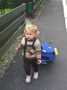 I'm 22 months old and I can pull my own rolly luggage | Jennifer Margulis