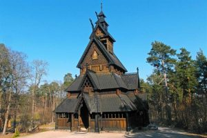This wooden church, which dates from about 800, is one of the highlights of the Norsk Folkemuseum