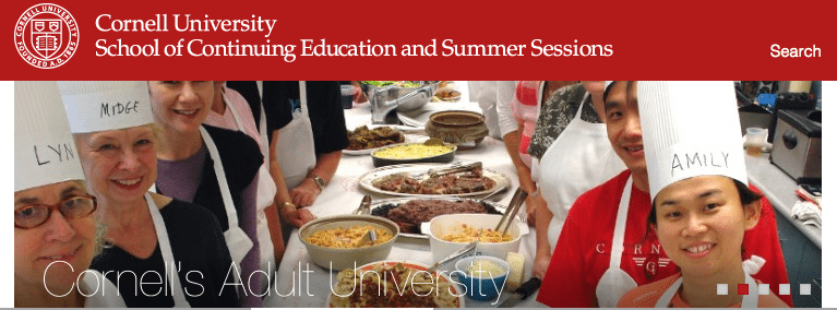 Cornell summer camp grown-ups and for kids offered by Cornell's Adult University