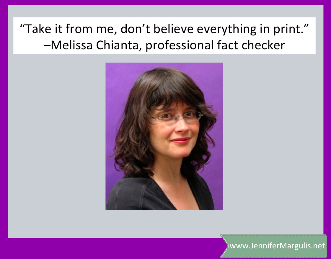 Why writers need to hire outside fact checkers to be sure their work has integrity. Via Jennifer Margulis, Ph.D.