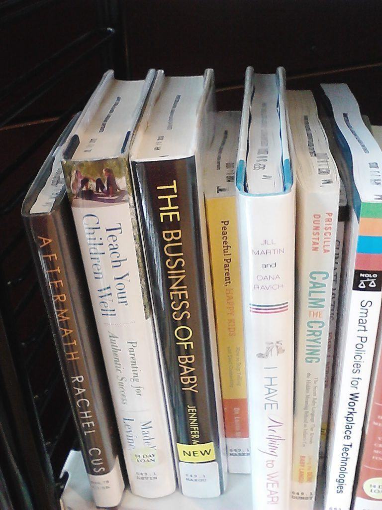 My new book, THE BUSINESS OF BABY, on the shelf at a library in Ohio. Thank you to my colleague and friend Michelle O'Neil for asking  her library to order it.