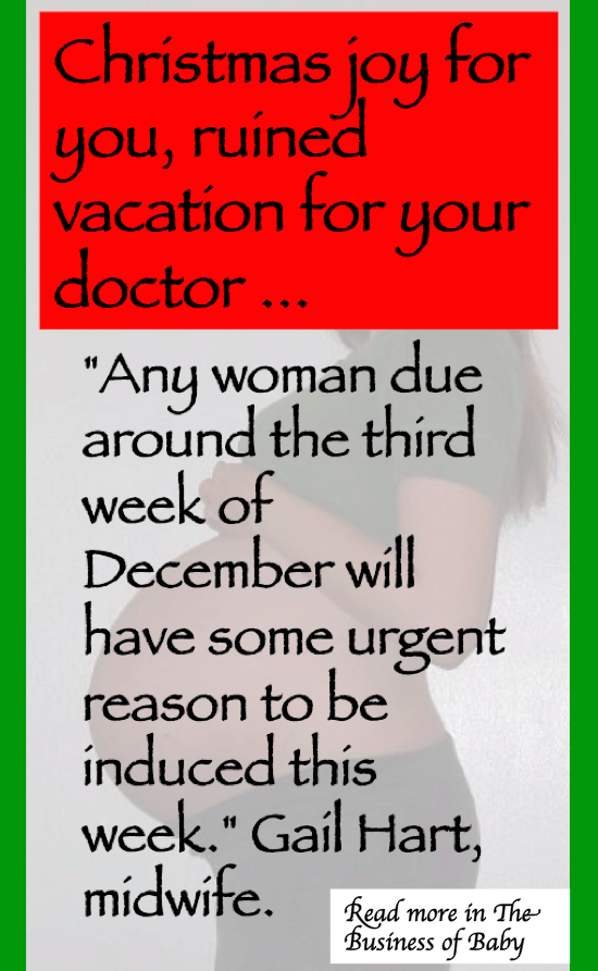 Christmas joy for you, ruined vacation for your doctor. Facebook memes made by Jennifer Margulis, author of Your Baby, Your Way.