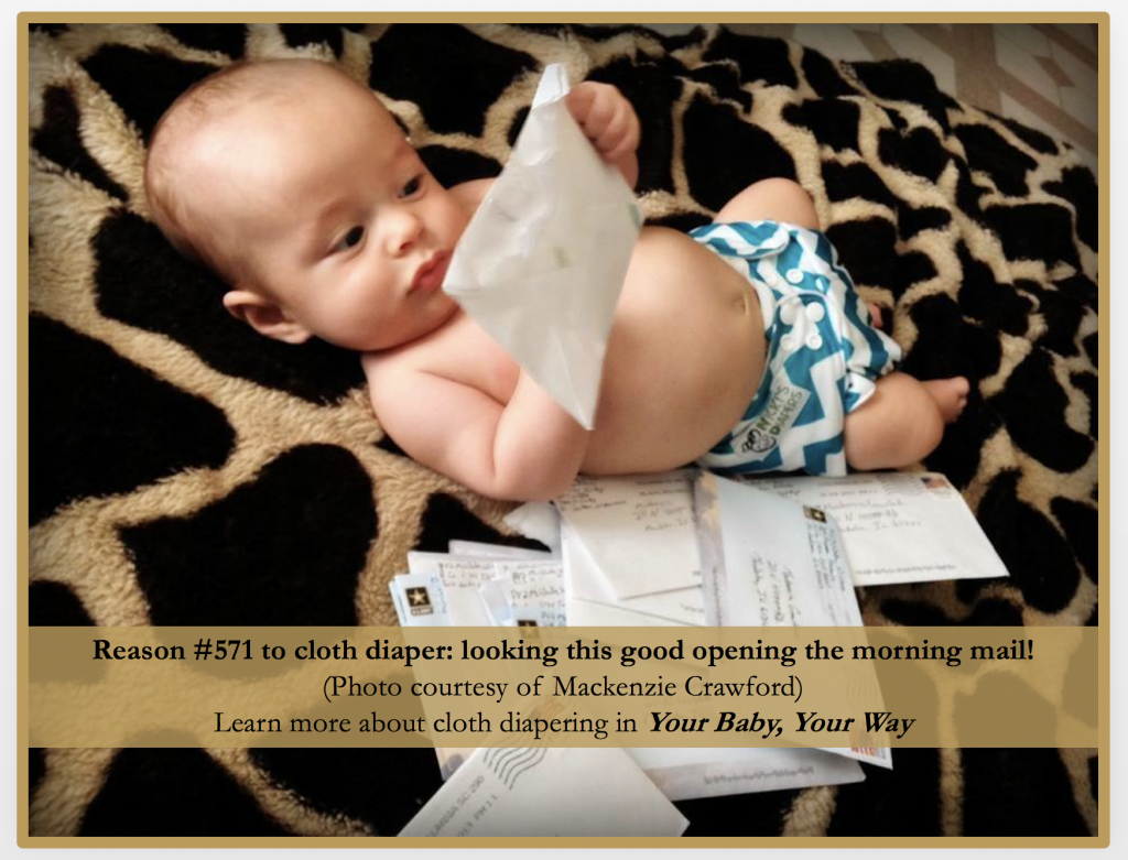 Reasons to use cloth diapers. They're so stylish! | Jennifer Margulis, PhD