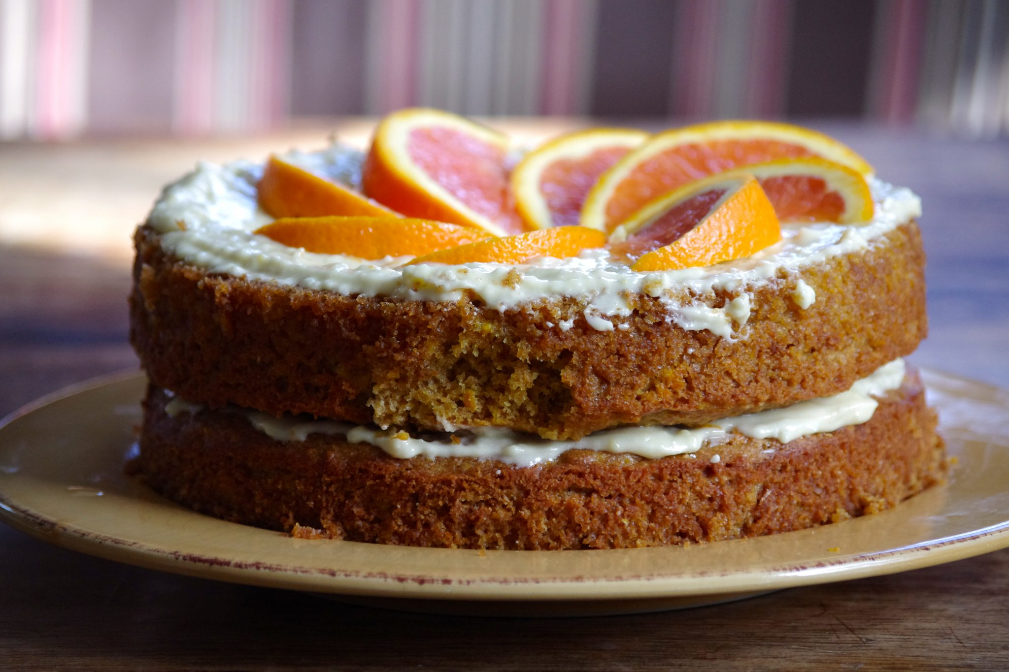 The most delicious agave-sweetened orange cake you've ever tasted, made with whole grain flour