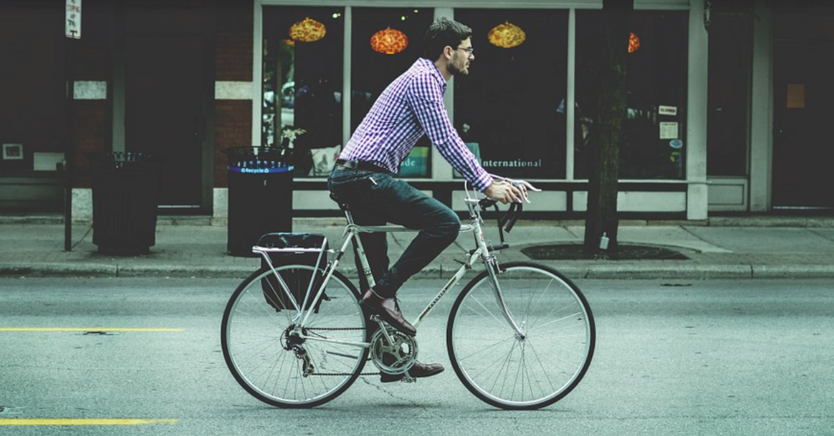 bike to work and have your kids bike to school to be more sustainable