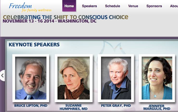 Freedom for Family Wellness Conference 2014. Jennifer Margulis is one of the keynote speakers
