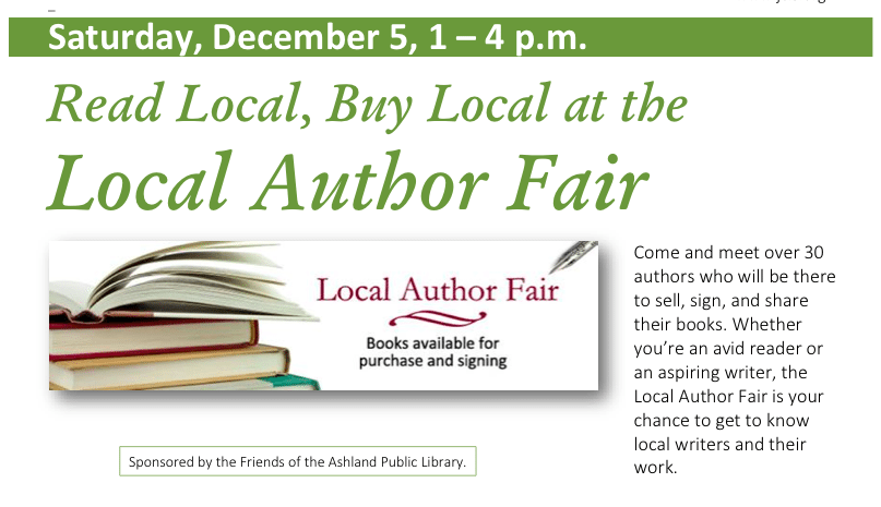 Ashland Author Fair December 5