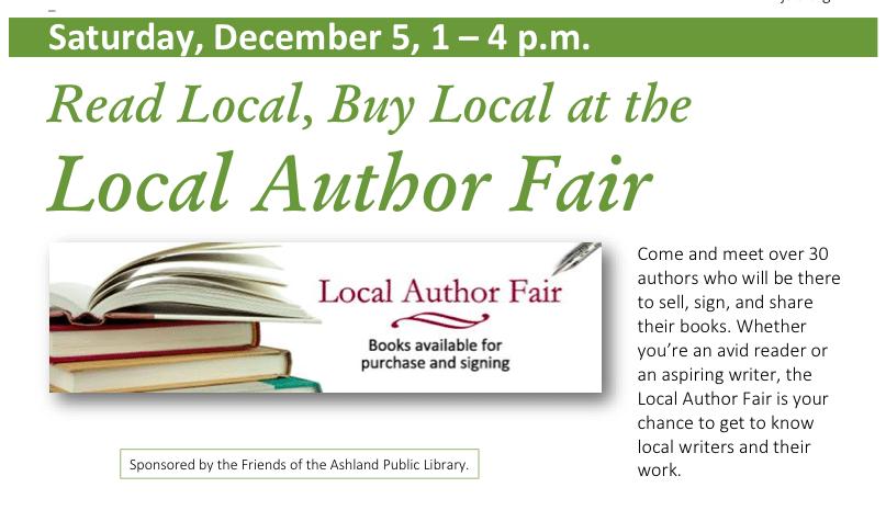 Ashland Author Fair December 5