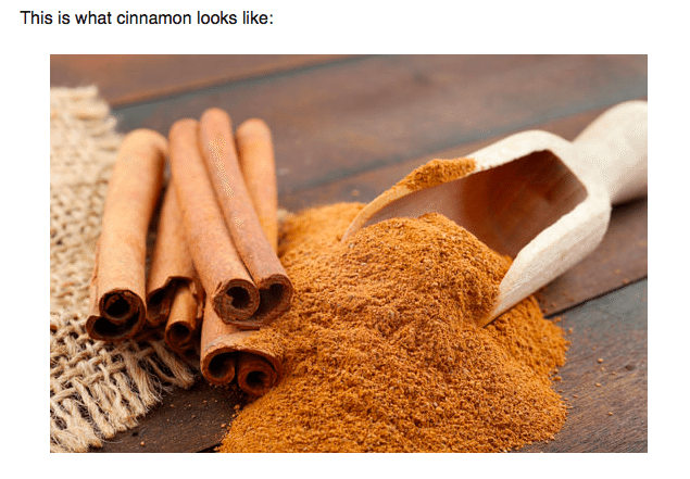 Photo: screenshot from Authority Nutrition. See their article: http://authoritynutrition.com/10-proven-benefits-of-cinnamon/