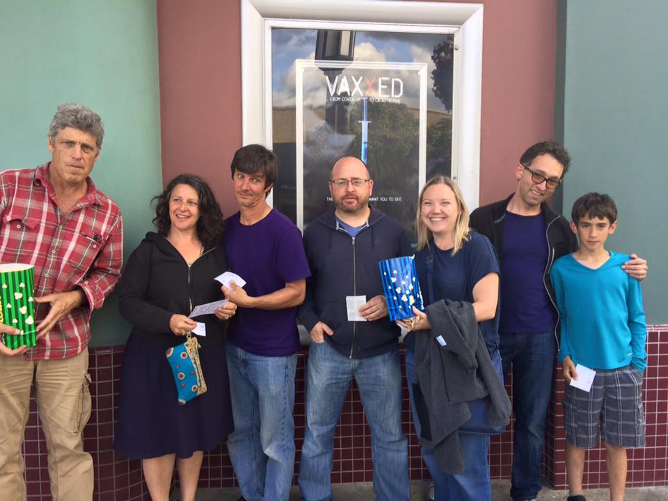 Filmgoers in Ashland, Oregon pose for a photo at the Varsity Theater. Ashland was the first city in Oregon to show the documentary. Watching Vaxxed is very eye opening. Photo credit: Jennifer Margulis.