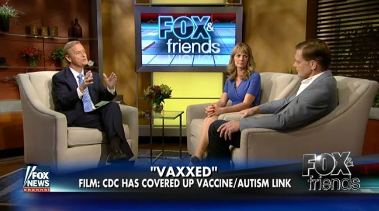 Ashland, Oregon discusses Vaxxed. Screenshot from Fox & Friends about the highly controversial vaccine safety documentary.