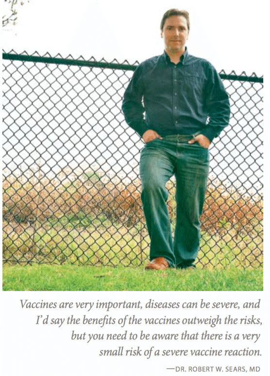 "Screenshot from the article, ""The Vaccine Debate,"" published in Mothering Magazine"
