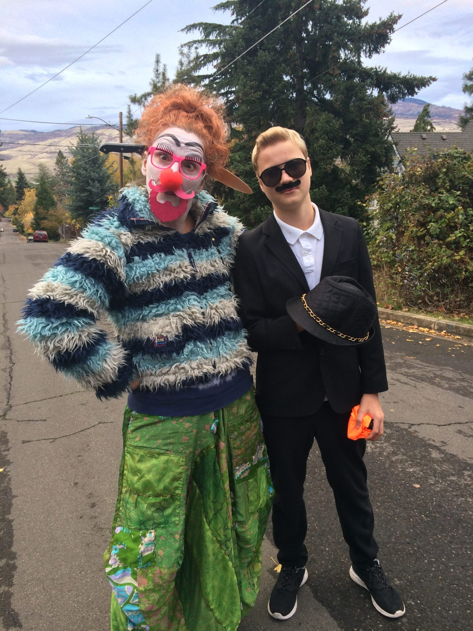 Scenes from the Halloween parade in Ashland, Oregon