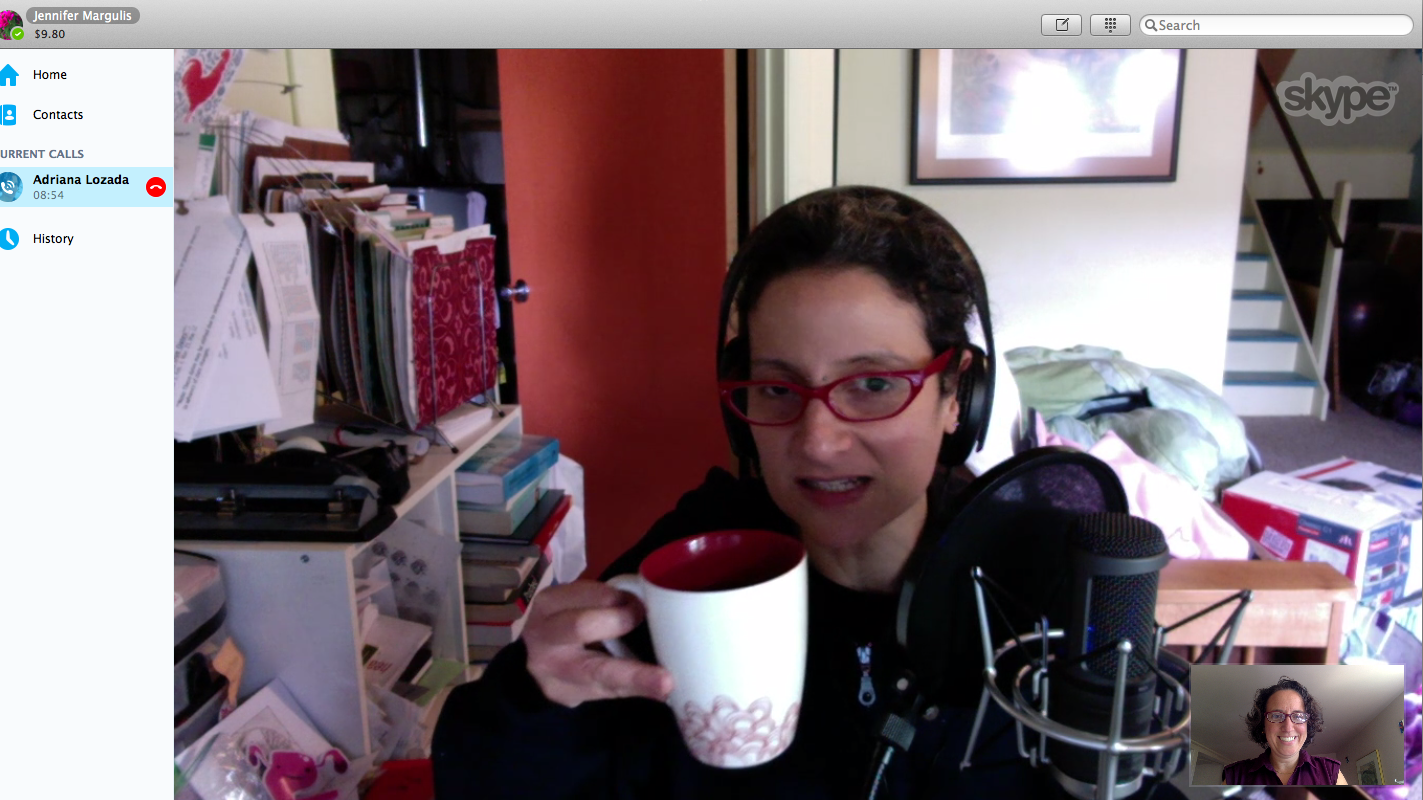 Adriana Lozada interviewing Jennifer Margulis, Ph.D., for her Birthful podcast