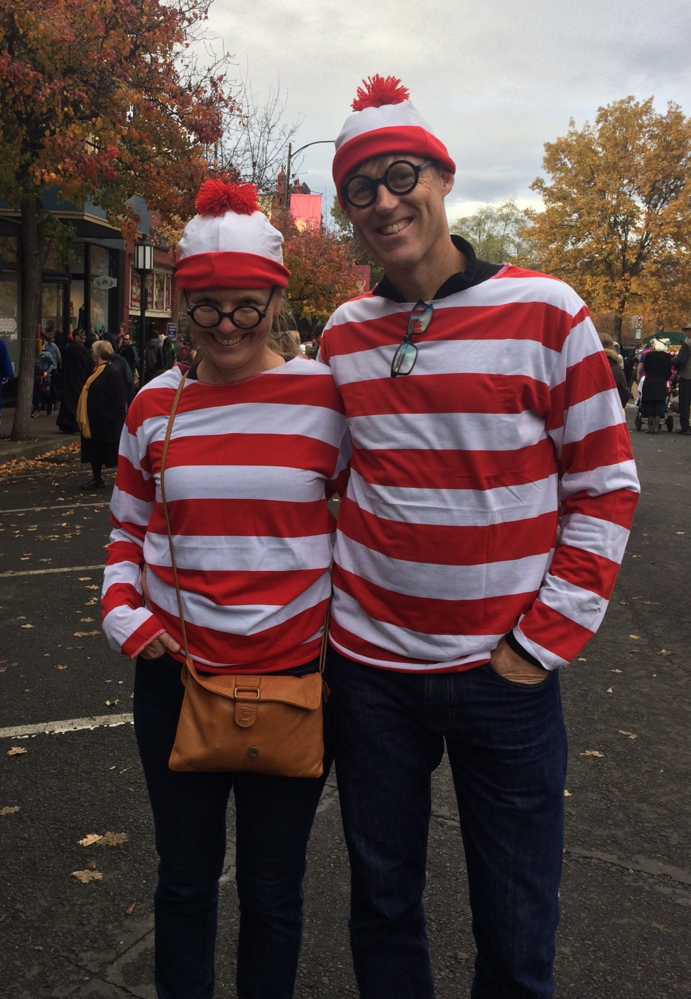 Two Waldos at the Halloween parade in Ashland, Oregon
