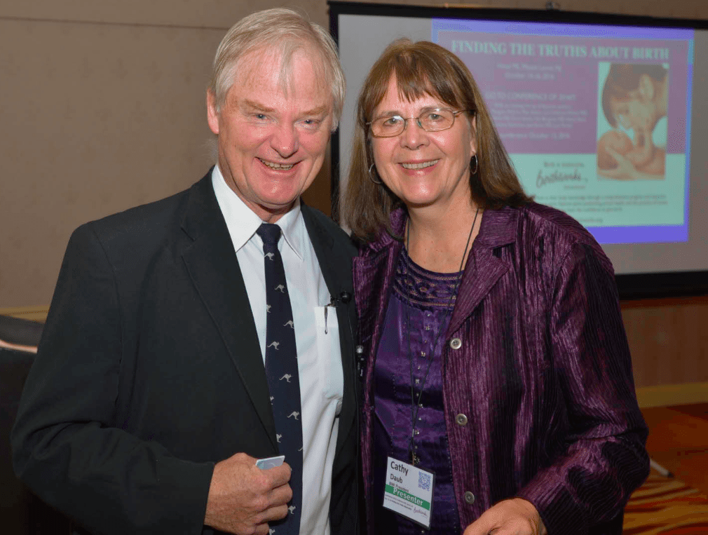 Dr. Nils Bergman and Cathy Daub, founder of BirthWorks. Photo courtesy of Cathy Daub