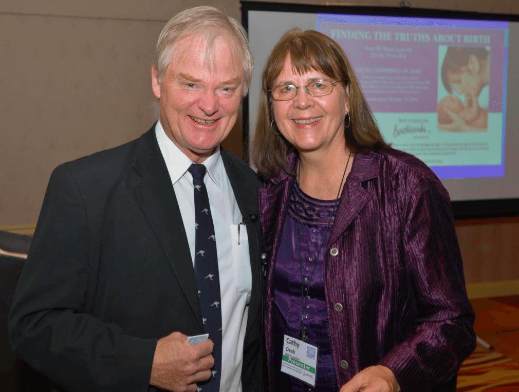 Dr. Nils Bergman and Cathy Daub, founder of BirthWorks. Photo courtesy of Cathy Daub