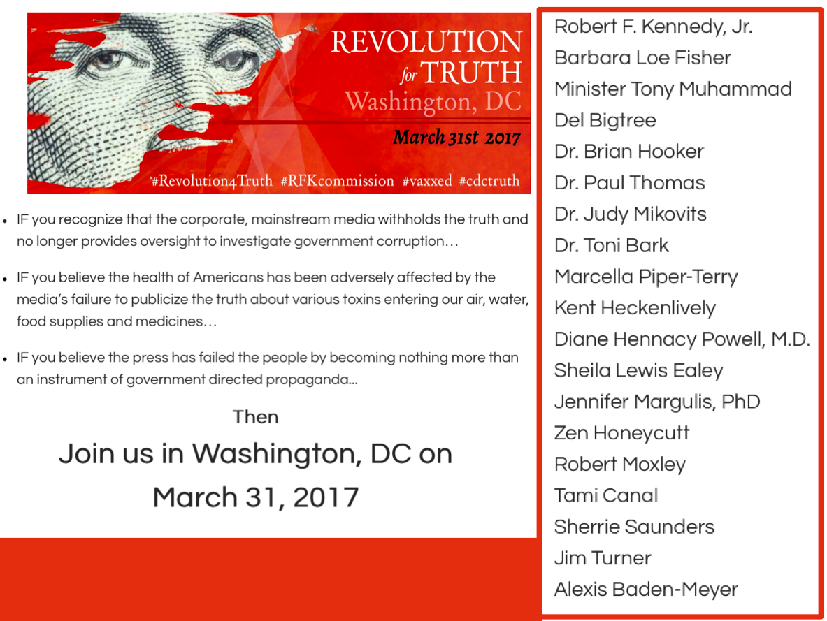 Jennifer Margulis will be speaking at the Revolution for Truth rally in Washington, D.C. on March 31, 2017