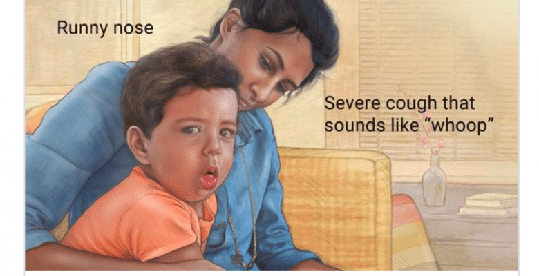Whooping cough outbreak in Ashland Oregon (two cases confirmed) leaves doctors concerned. Screenshot from Google search for whooping cough. Via Jennifer Margulis