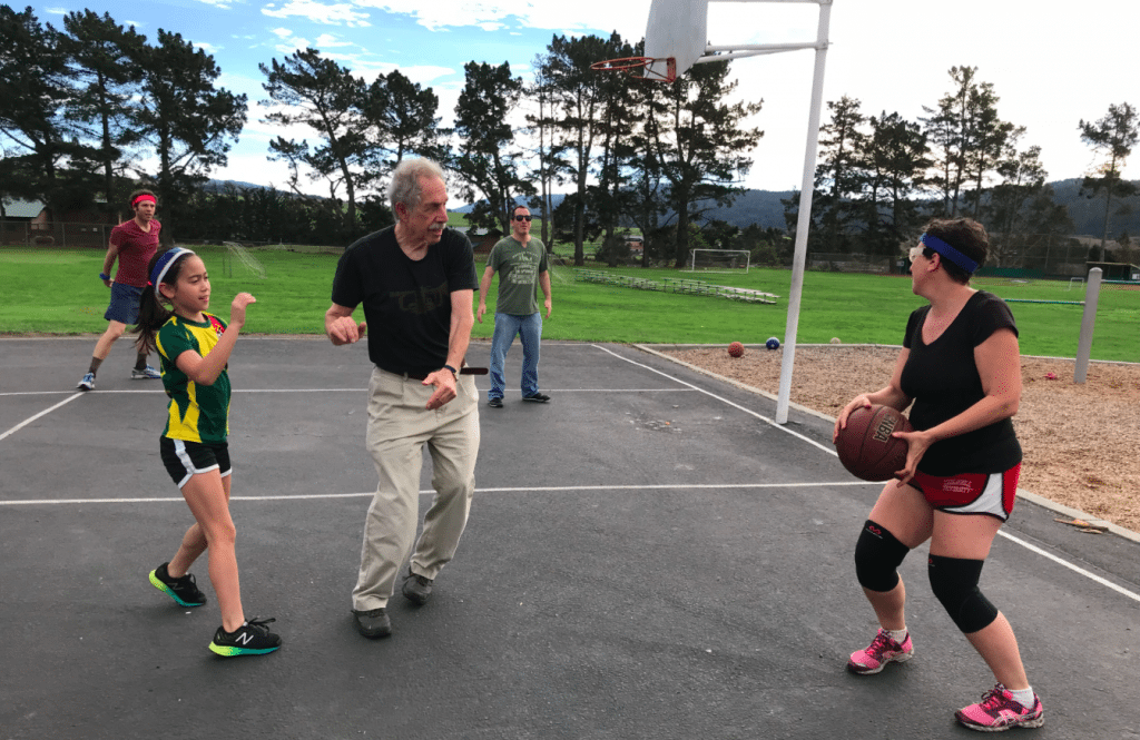 An all ages all abilities game of basketball. Happy Thanksgiving 2017. | Jennifer Margulis
