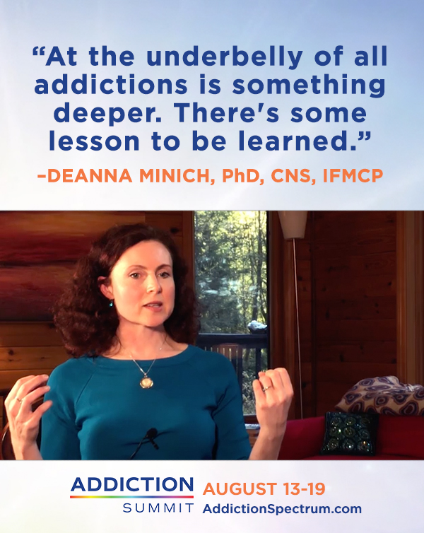 Deanna Minnich, PhD, struggled with food addiction. She used color therapy and spirituality to help her heal.