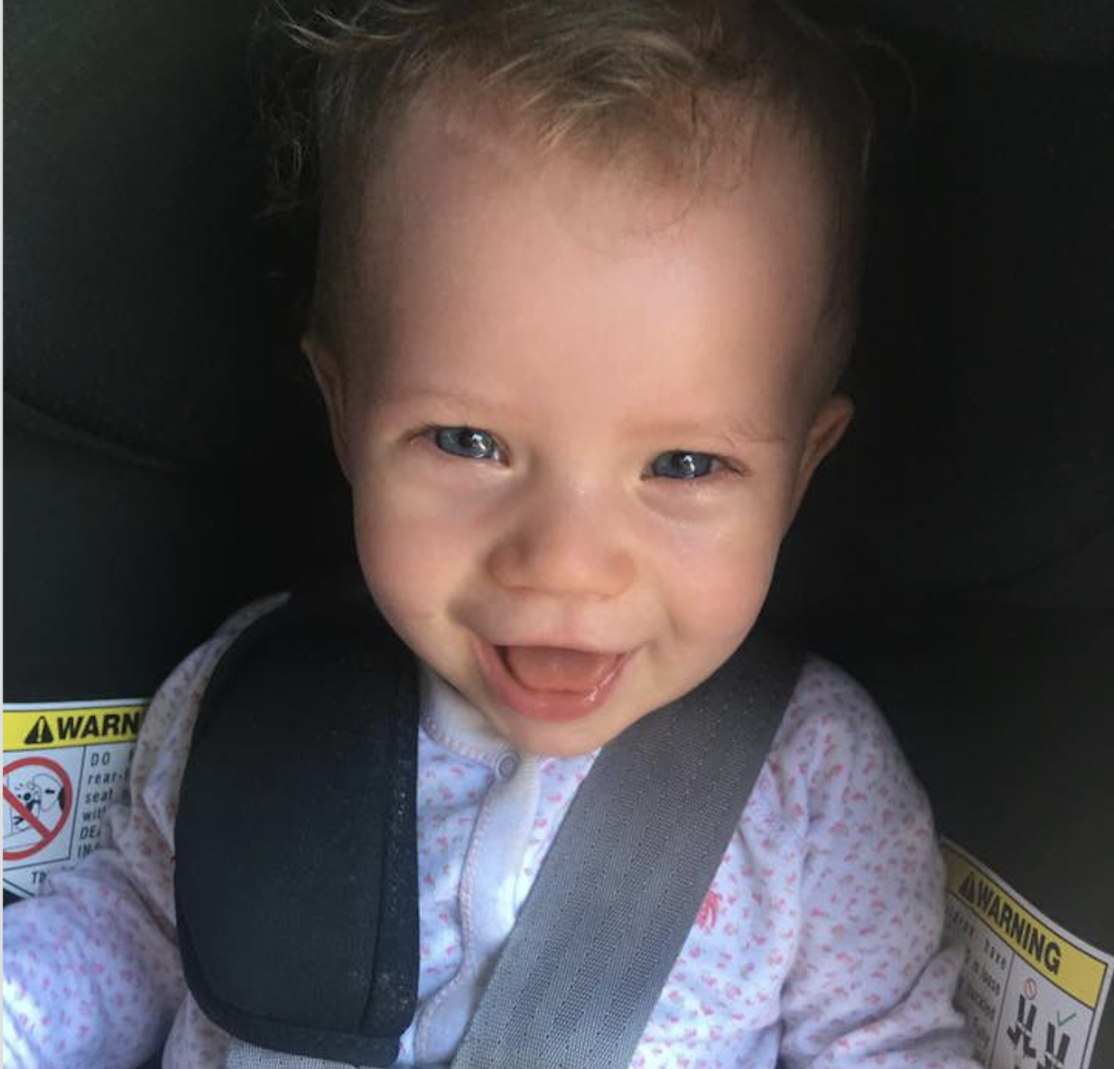A healthy baby whose mom is making responsible and thoroughly researched vaccine decisions