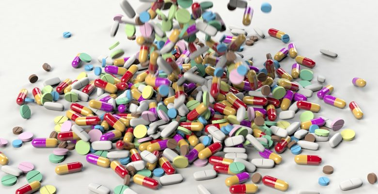 New study: Mice given influenza after taking antibiotics were more likely to die than mice not exposed to antibiotics | photo of a cascade of pills via JenniferMargulis.net
