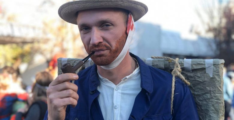 Vincent Van Gogh, his head bandaged, was spotted at the Halloween parade in Ashland Oregon | Photo by Jennifer Margulis