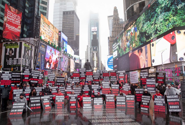 Dangers of Vaccines at Heart of Times Square Demonstration