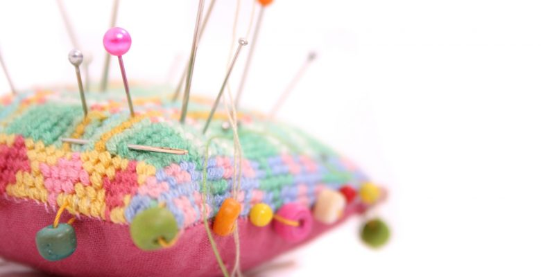 Roanna Rosewood had a VBAC2C. Her book, Cut, Stapled, and Mended, tells the story of her homebirth VBAC. Photo of pins in a cushion by Lisa Woakes. | Jennifer Margulis, Ph.D.