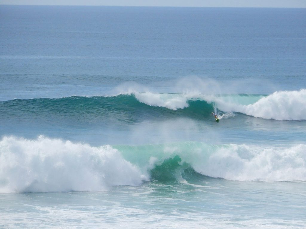 Baja's first coronavirus case may have been Dawn Pier, pictured here surfing. Photo courtesy of Kevin Wood. | Jennifer Margulis, Ph.D.