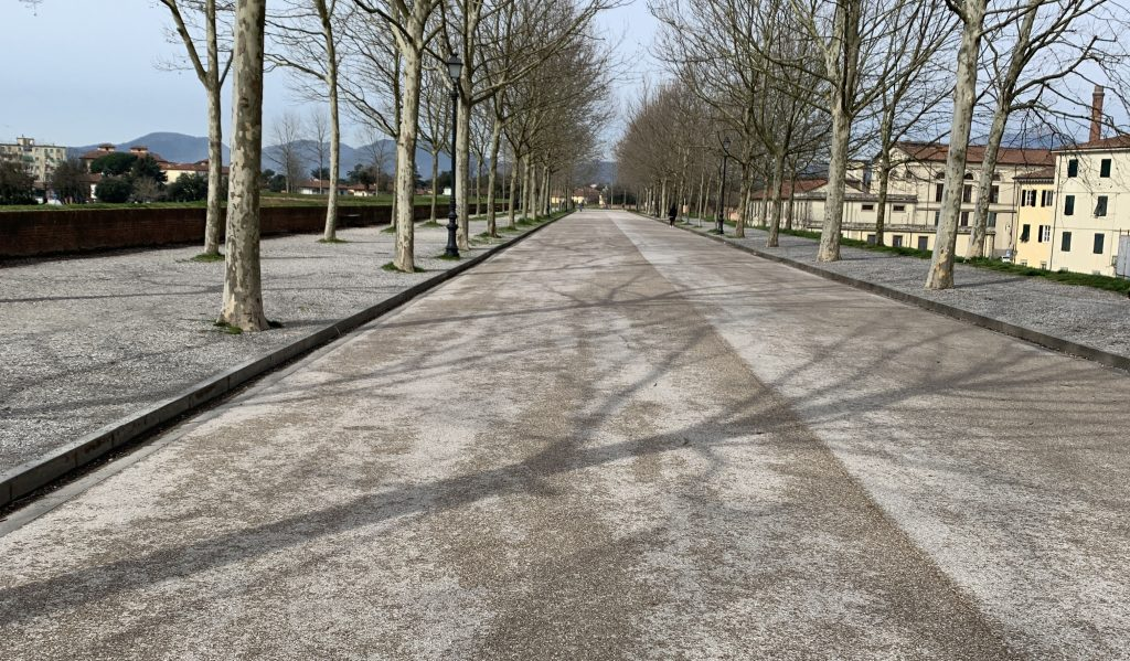 Coronavirus red zone. Streets in Italy, once teeming with cars and people, are now empty due to widespread fear of the coronavirus. | Jennifer Margulis, Ph.D.