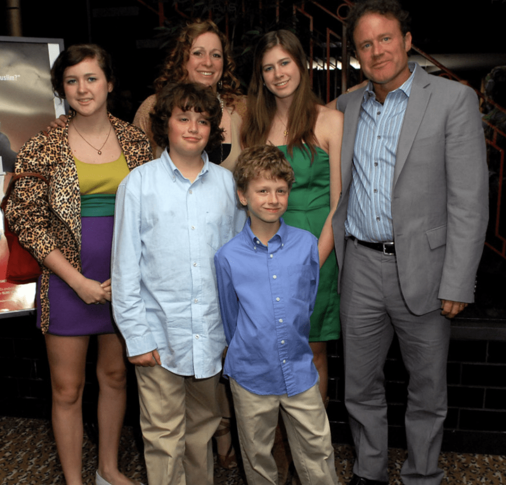 Abigail Disney, husband Pierre Hauser and their four children in 2008. Photo via Heavy.com | Jennifer Margulis, Ph.D.